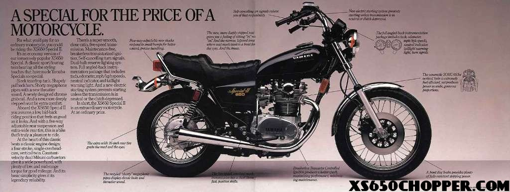 1980 Yamaha xs650 Special Vintage Ads