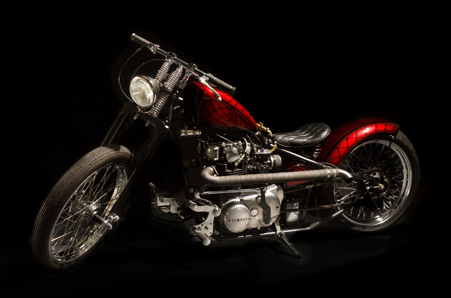 """""""Chicago Bike"""" Red xs650 By Ardcore"""