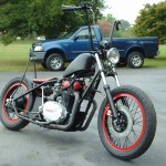 1976 black widow xs650 bobber