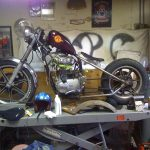 78 xs650s bobber in the making
