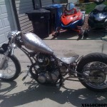 200mm rear stretched custom XS650
