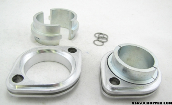 xs650 Finned Exhaust Pipe Flanges
