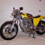 cafe tracker xs650 yellow