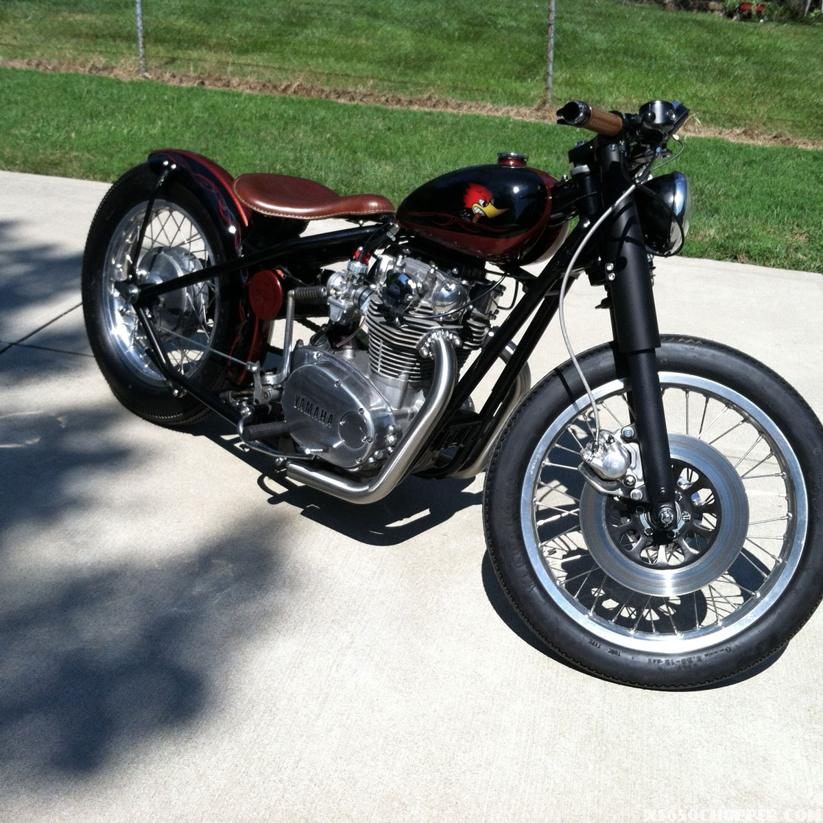 1977 XS 650 Work Almost Complete
